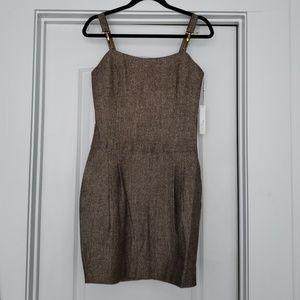Vertigo - Tweed suspender dress